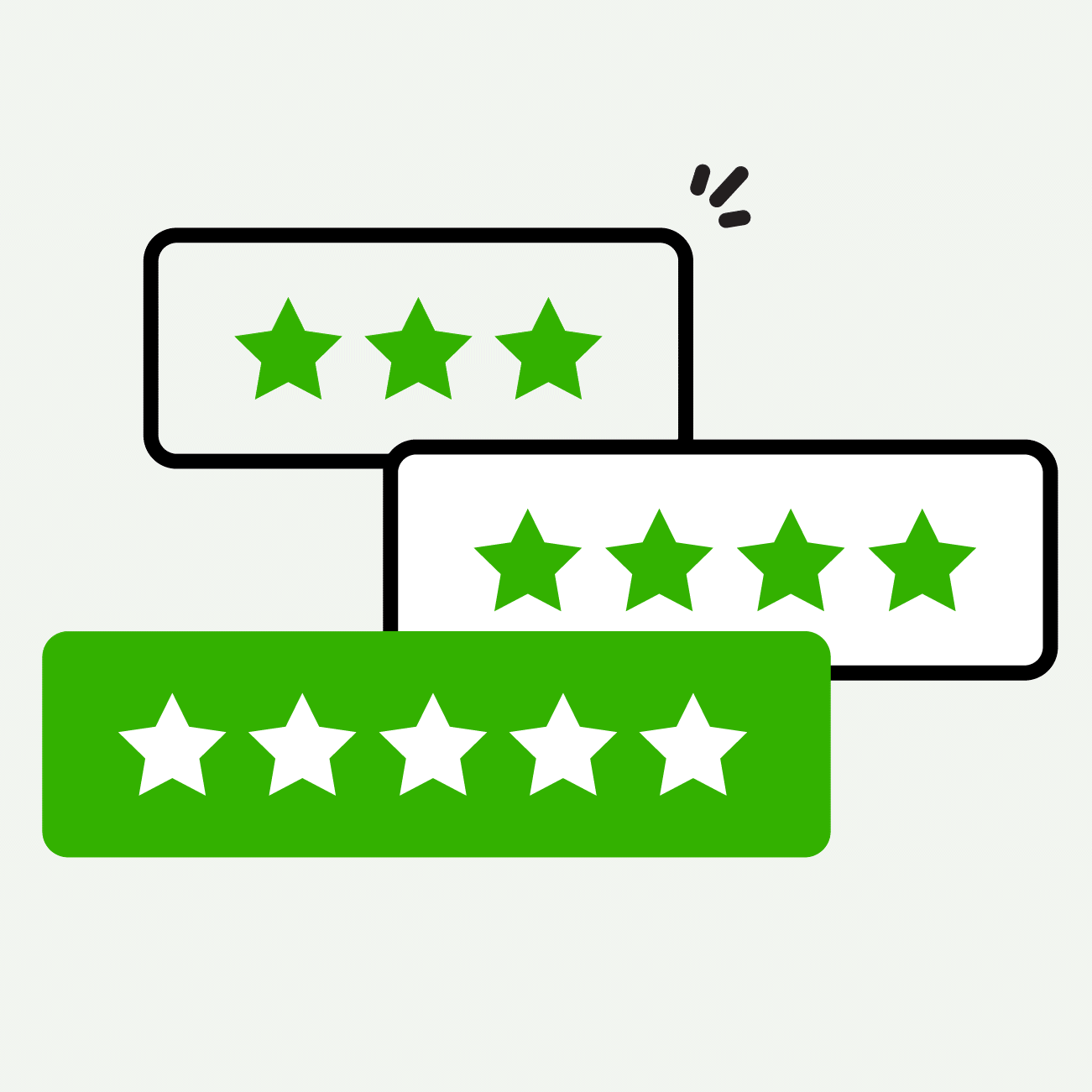 review stars icon