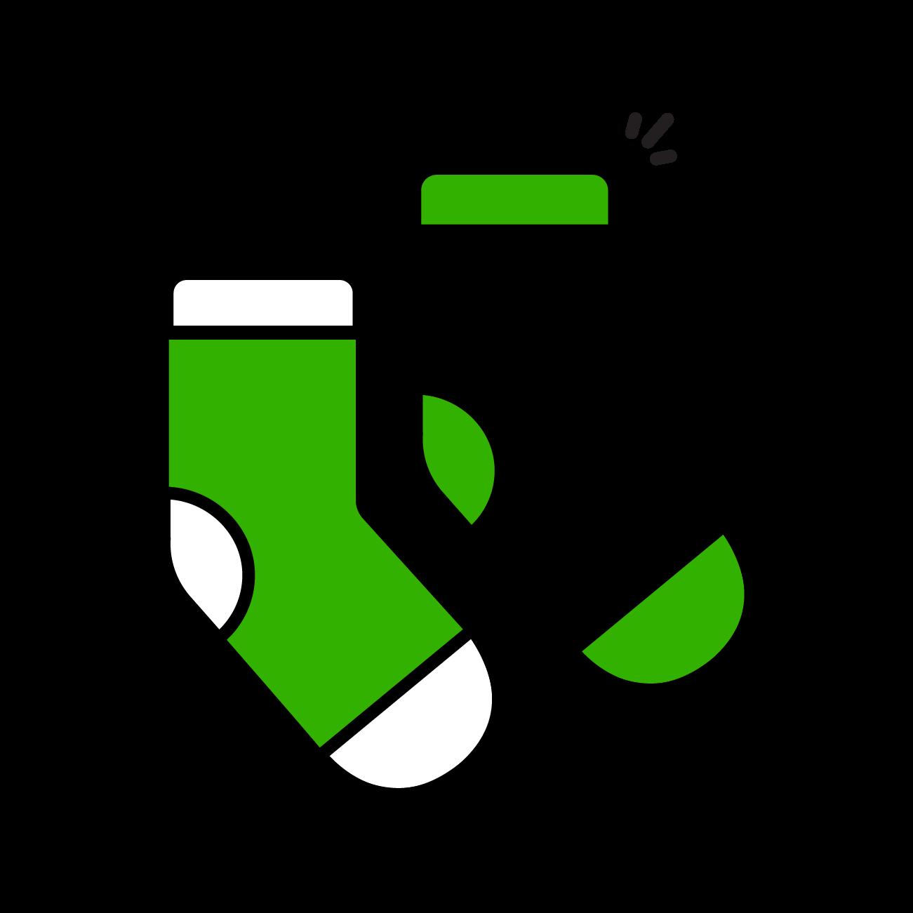 mismatched socks icon