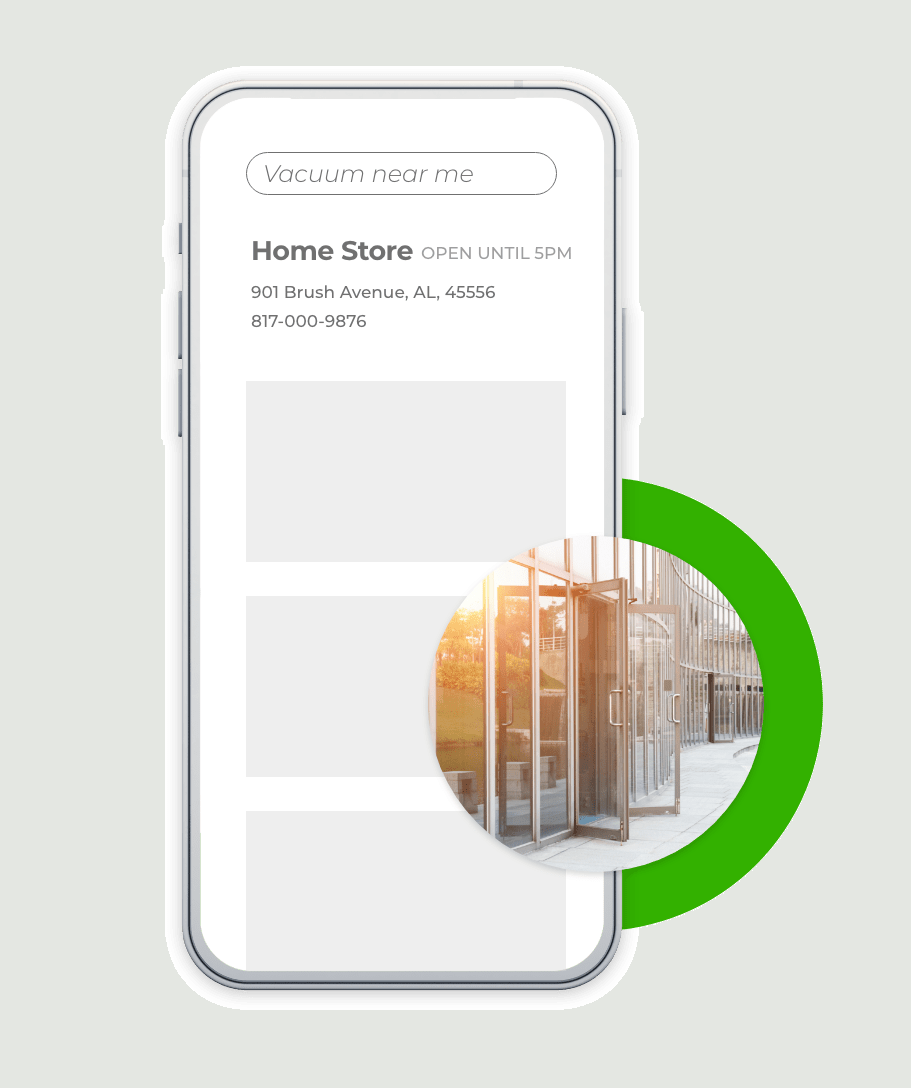home store listing on phone